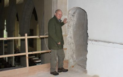 Bricked up church door reveals hidden secrets